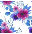 Watercolor seamless floral pattern vector image vector image