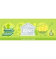 Web Banner of the Bank as Traditional Investor vector image vector image