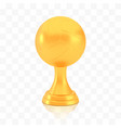 winner volleyball cup award golden trophy logo vector image vector image