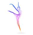 woman dancer ballerina abstract vector image vector image