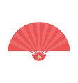 chinese handfan isolated vector image