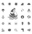 boat icon vector image