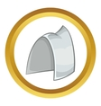 Traditional sweden headwear icon vector image