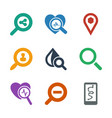 9 search icons vector image vector image