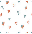 abstract seamless pattern with colorful hearts vector image