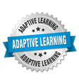 adaptive learning round isolated silver badge vector image vector image