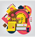 back to school concept history vector image