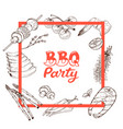 bbq and grill banner vector image vector image