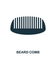 beard comb icon flat style icon design ui vector image