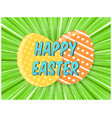 bright green retro comic background for easter vector image vector image