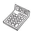 Calculator icon outlined vector image