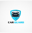 car guard insurance logo icon element and vector image vector image