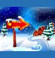 cartoon colorful winter landscape template vector image vector image