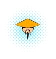 Chinese man icon comics style vector image