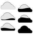 cloud computing storage icon filled part portion vector image