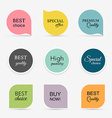 Collection of promo sealsstickers Isolated vector image