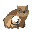 concept of happy family wild animals on isolated vector image
