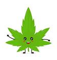 cute funny smiling happy marijuana weed vector image