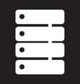 data storage icon design vector image