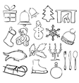 doodle christmas images vector image vector image