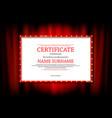 elegant template certificate vector image vector image
