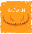 evil face from pumpkin to halloween vector image vector image