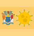 flag new jersey state with outbreak viruses vector image vector image