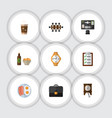 flat icon oneday set of questionnaire beer with vector image vector image