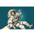 follow me woman astronaut vector image vector image