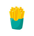 french fries in cardboard box isolated on white vector image vector image