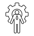 gear wheel admin icon outline style