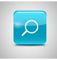 Glass Search Button Icon vector image