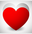 graphics with red heart eps 10 vector image vector image