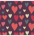 Grungy seamless heart pattern for valentines day vector image vector image