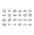 hand drawn doodle crowns king crown sketches vector image vector image