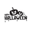happy halloween text banner or label vector image vector image