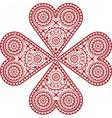 Heart handmade crochet vector image vector image