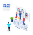 hiring and recruitment isometric vector image