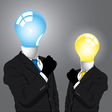 Idea business man vector image