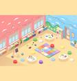isometric kindergarten room or playroom vector image