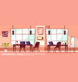 isometric office room coworking vector image vector image