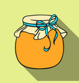 jar of honey icon in flat style isolated on white vector image vector image