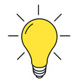 lightbulb line icon isolated on white vector image vector image