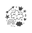 magic fairy tale kids print vector image vector image