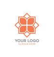 modern geometric flower logo icon flat design vector image vector image