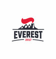 modern professional sign logo everest art vector image
