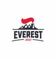 modern professional sign logo everest art vector image vector image