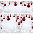 new year backgrounds with red christmas balls vector image vector image