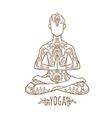 ornament beautiful card with man chakra vector image vector image