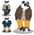 Panda lifestyle vector image vector image
